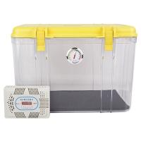 锐玛(EIRMAI) R20 单反相机防潮箱 镜头收纳箱 相机干燥箱 大号,送大号吸湿卡 炫黄色