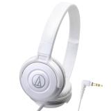 铁三角(Audio-technica)ATH-S100 HIFI重低音便携头戴式音乐耳机 白色