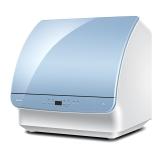海尔(Haier)6套 小海贝 海沙蓝非透明视窗 自由安装 小贝台式洗碗机 HTAW50PPBECUTE