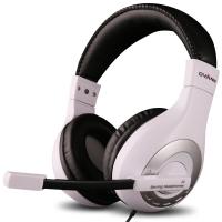 欧凡(OVANN)X4 头戴式电竞游戏耳机耳麦 电脑耳机 语音耳机带麦克风 黑白色