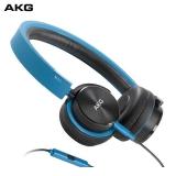 爱科技(AKG)Y40 头戴式耳机 折叠便携式耳机 立体声手机通话耳机 HiFi音乐耳机 重低音 蓝色