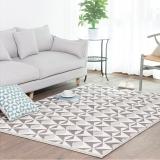 佳佰 三角几何拼接时尚地毯北欧简约客厅茶几地毯防滑卧室床前毯 几何魔方 JB-M-07  140CM*200CM