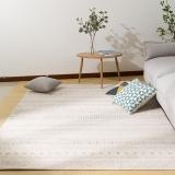 佳佰 北欧现代简约条纹几何客厅地毯茶几地毯 卧室床前毯  爵士白纹-JB-M-5 160CM*230CM