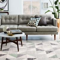 佳佰 北欧时尚简约几何三角拼接茶几地毯客厅地毯床前毯 黛色魔方-JB-M-03 140CM*200CM