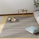 佳佰 现代北欧时尚条纹客厅茶几地毯 卧室床前毯 雅士灰纹-JB-M-04 160CM*230CM