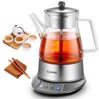 东菱(Donlim)养生壶 玻璃 加厚 蒸汽喷淋式 智能控温冲泡 多功能全自动煮茶壶 煮茶器 KE-8008