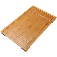 茗匠 茶盘茶托 大平板 排水式竹木实木功夫茶具茶道配件茶海