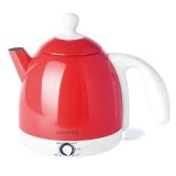 北欧欧慕(nathome)电热水壶 304不锈钢 保温调温烧水壶 NSH0801 0.8L电水壶 嫣红