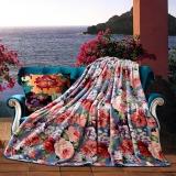 梦洁家纺(MENDALE)毯子 午睡盖毯空调毯 办公室沙发休闲毯 法兰绒毯 花千骨 180*200cm