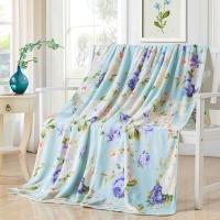 梦洁家纺出品 MEE 毯子 法兰绒毛毯 午睡休闲盖毯空调毯 办公室沙发休闲毯 泽西岛 180*200cm