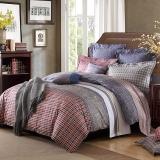 梦洁家纺(MENDALE)床品套件 磨绒印花四件套 床单被罩 艾丁堡 1.8米床 248*248cm