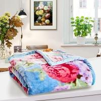 梦洁家纺出品 MAISON 毯子 加厚盖毯午睡毯 办公室沙发休闲毯 双层厚毯 花千骨 200*230cm