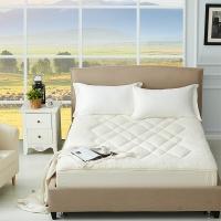 梦洁家纺出品 MAISON 床垫床褥 单双人床垫被 玺悦类羊毛床笠式保护垫 1.8米床 180*200cm