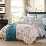 梦洁家纺(MENDALE)床品套件 纯棉印花四件套 床单被罩 活色生香 1.8米床 248*248cm