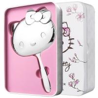 HELLO KITTY 金属银色手柄化妆镜 520情人节礼物送女友生日礼物 金属礼盒包装 银装素裹KT1401