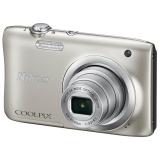 尼康(NIKON) Coolpix A100 便携数码相机(2005万像素 2.7英寸屏 5倍光学变焦 26mm广角)银色