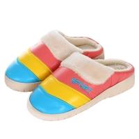 集暖棉拖鞋女居家地板拖湖蓝色38-39码(适合36-37码)A00001