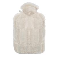Hugo Frosch纯色长毛绒外套系列注水热水袋 PVC防爆暖手宝 雪白0567