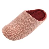 Homix 冷冻定型静音保暖家居棉拖鞋 橙色 36-38码
