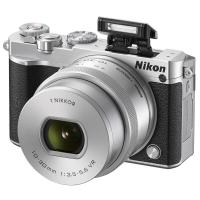尼康(Nikon)J5+1 微单相机 尼克尔 VR防抖 10-30mm f/3.5-5.6 PD镜头 银色(2080万有效像素 可更换镜头 4K视频录制 可翻折触摸屏)