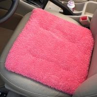 雨花泽(Yuhuaze)雪尼尔座垫两片装 冬季柔软保暖加厚毛坐垫 家用办公室沙发垫(粉色)