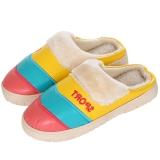集暖棉拖鞋女居家地板拖红色36-37码(适合35-36码)A00001