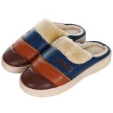 集暖棉拖鞋 男居家地板拖深棕色42-43码(适合40-41码)A00001