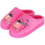集暖棉拖鞋女居家地板拖粉色260(适合36-37码)A00007