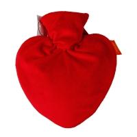 费许(fashy)心形0.7升PVC材质红色6510绒布外套热水袋