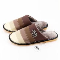 家博士(HOMEBOOS)JBS-MT001 冬季保暖棉拖 皮棉拖鞋 咖啡色 男款46-47码