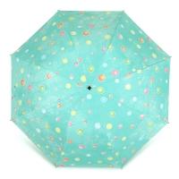 百盛洋伞 水波圆点遇水遇热变色晴雨伞黑胶防紫外线UPF50+遮阳伞 7392G 淡绿