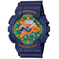 卡西欧(CASIO)手表 G-SHOCK 男士防震防磁运动手表 LED照明石英表 GA-110FC-2A
