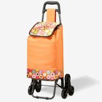 好事达爬梯购物车 折叠超市买菜车 便携手推车橙色5879-1