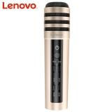 联想(Lenovo) UM10C手机直播K歌麦克风 声卡混响苹果安卓主播全民映客快手专用话筒 支架全套 直播版土豪金