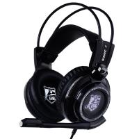 硕美科(SOMIC) G941 白鲨版 耳机 头戴式 游戏耳机 降噪震动 7.1声效 电竞电脑 多功能线控 黑色