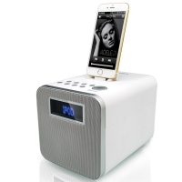 RSR DS411 苹果音箱蓝牙音箱 iPhone X/8/7/6s/ipad手机底座音箱 白色