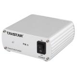 得胜(TAKSTAR)PM-5通用48V幻象电源 电容麦克风话筒专用稳定耐用 银色