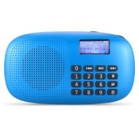 朗琴(ROYQUEEN)X360 插卡收音机老人随身听 便携式mp3播放器 迷你小音箱 手电功能 精灵蓝