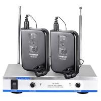 得胜(TAKSTAR)TS-3310PP无线话筒麦克风 一拖二双领夹话筒 会议演出教学舞台专用 典雅黑