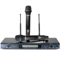 得胜(TAKSTAR)X5无线话筒麦克风 一拖二专业U段家庭KTV 工程会议主持专用话筒 高品质自动对频 典雅黑