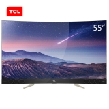TCL 55X3 55英寸4K超高清内置哈曼卡顿音响 纤薄曲面量子点电视(金色)(一价全包)