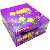 比巴卜棉花糖泡泡糖葡萄味11g/袋*12水果糖 儿童用糖休闲零食