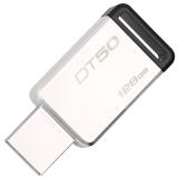 金士顿(Kingston)USB3.1 128GB 金属U盘 DT50 高速车载U盘 黑色