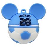 迪士尼(Disney) MICKEY`S GOAL限量版 世界杯创意礼品U盘 16G 潘帕斯雄鹰(蓝)