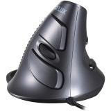多彩(Delux)M618 立·健 有线垂直鼠标 办公立式鼠标 黑灰
