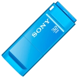 索尼(SONY) USM32X/L 精致系列3.0高速U盘 车载U盘 独立防尘盖设计优盘 32GB 蓝色