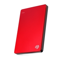 希捷(Seagate)Backup Plus睿品1TB USB3.0 2.5英寸 移动硬盘 金属中国红(STDR1000303)