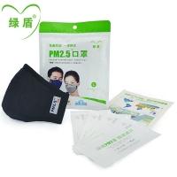 绿盾PM2.5口罩L,(1只)男士及脸型较大女士适用
