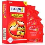 杰士邦 天然乳膠橡膠避孕套10只(love is love)