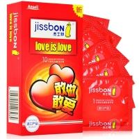 杰士邦 天然乳胶橡胶避孕套10只(love is love)